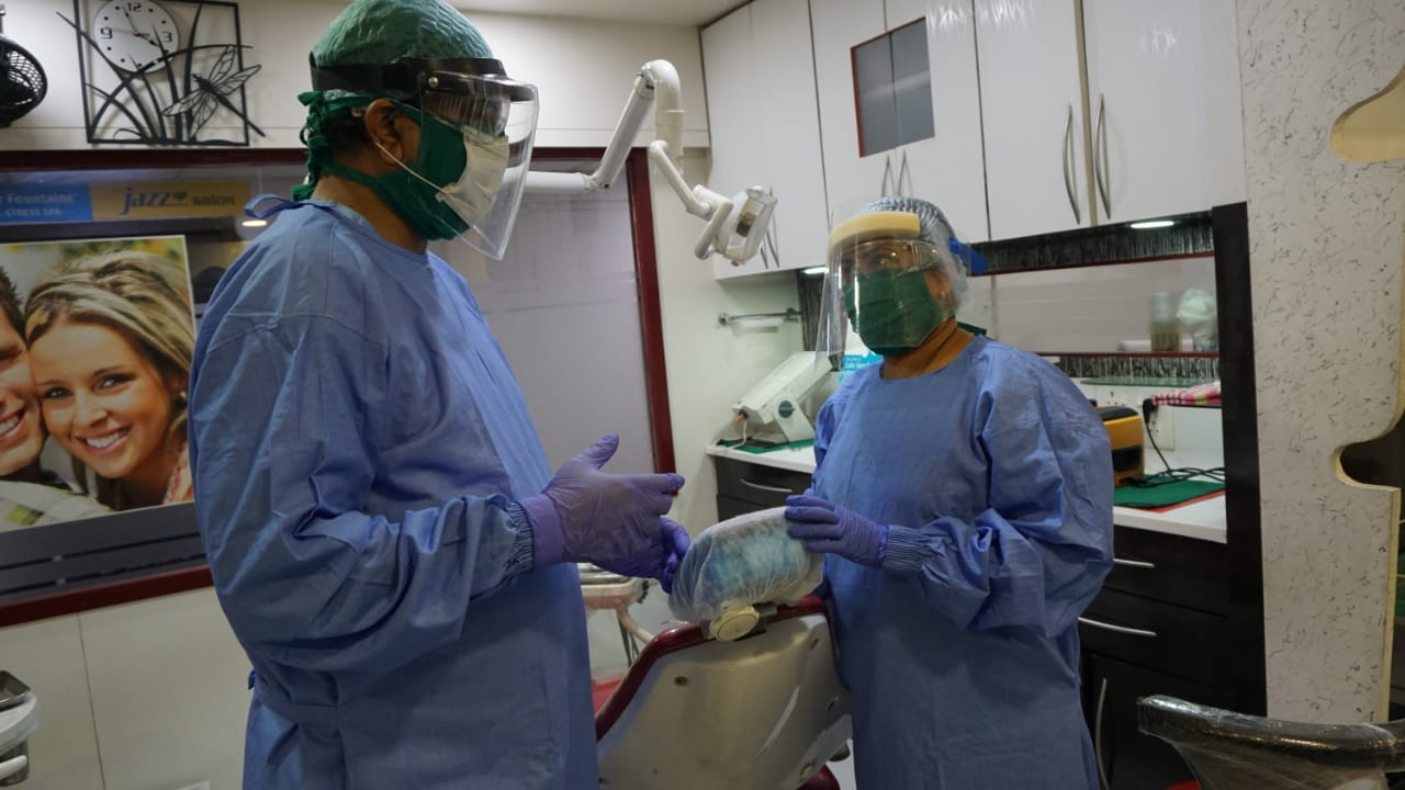 PPE kits used by Doctor and assistants